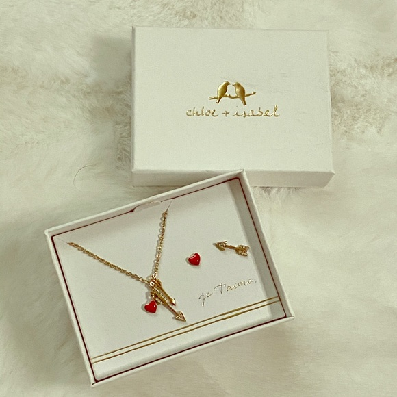 Chloe + Isabel Jewelry - New Chloe + Isabel Necklace Earrings Love Set